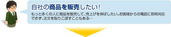 Case3: 自社の商品を販売したい!